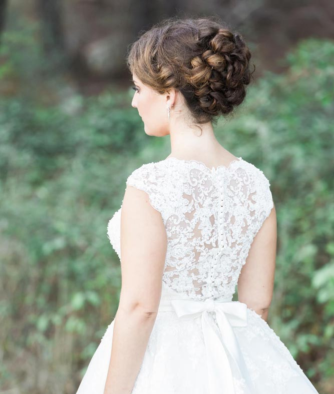 Updo for classic bride, hair by Serena
