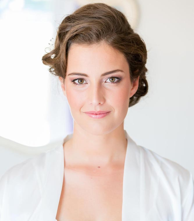 natural makeup and hair for bride by Serena