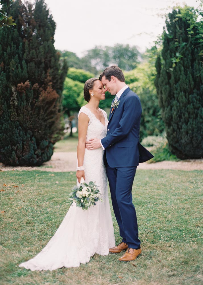 Bride and Groom in France, hair and makeup by Storme