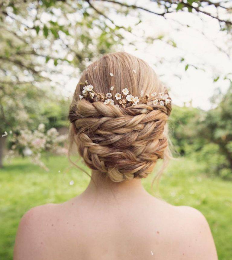 bridal plaited updo by Storme