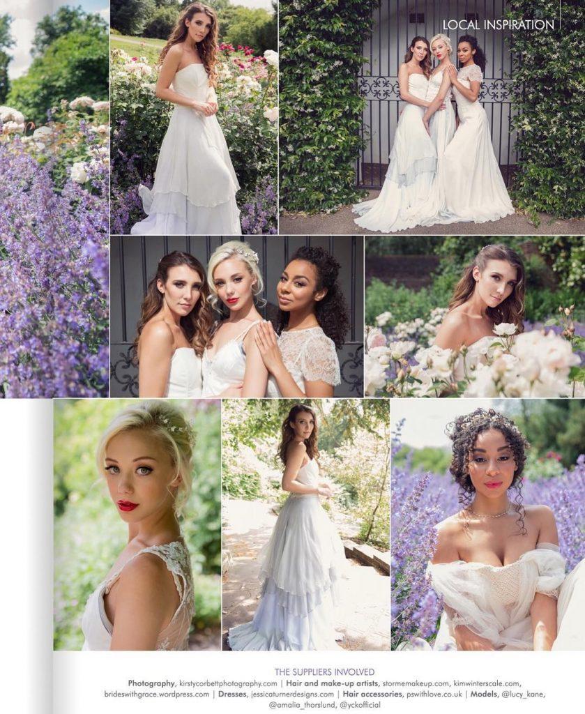 Spring photo shoot bridal hair and makeup