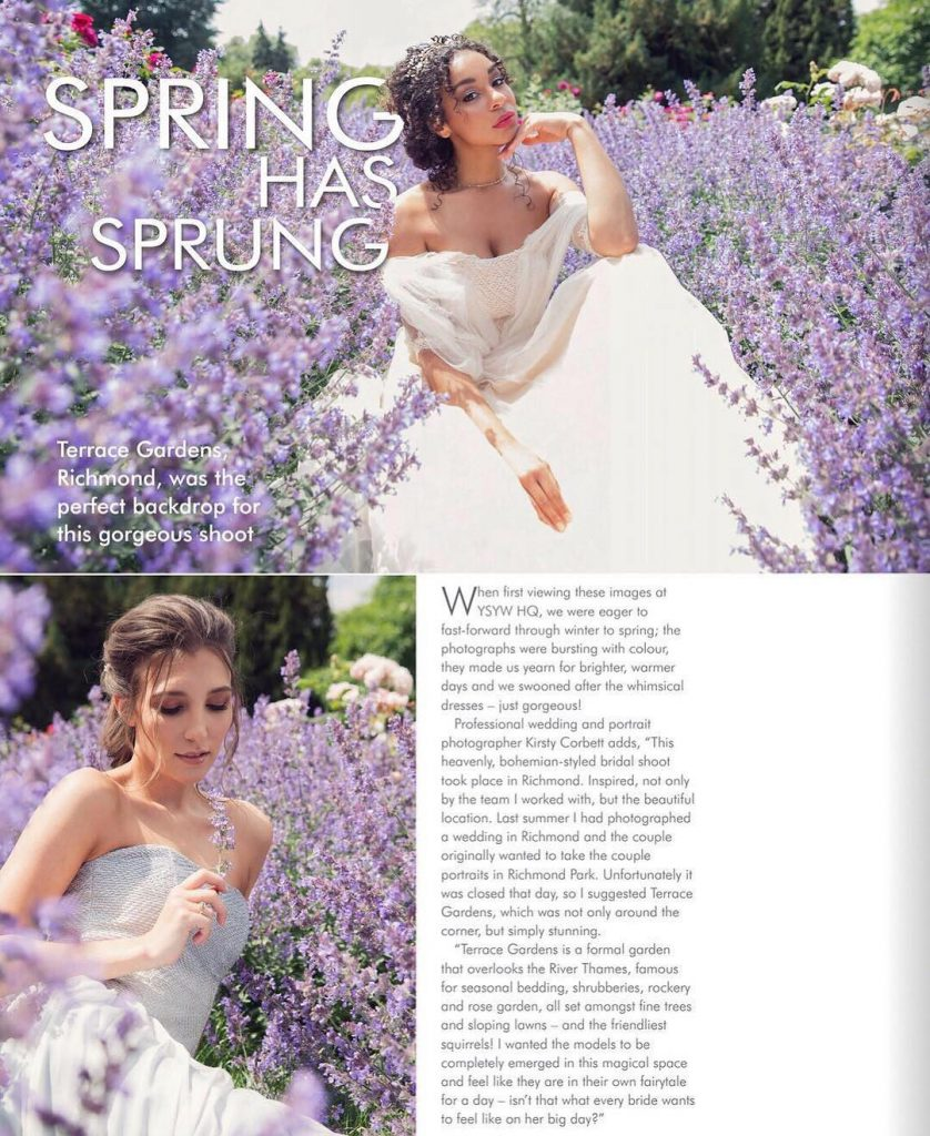 Spring magazine feature s pro team makeup and hair