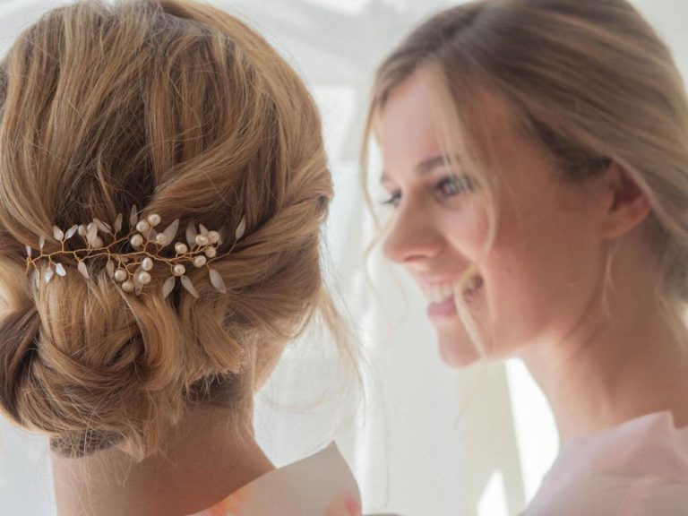 Bridal updo by Jo