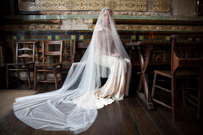 Cathedral length veil by Agneshart