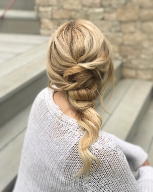 Bridal hairstyle up do by Charlie