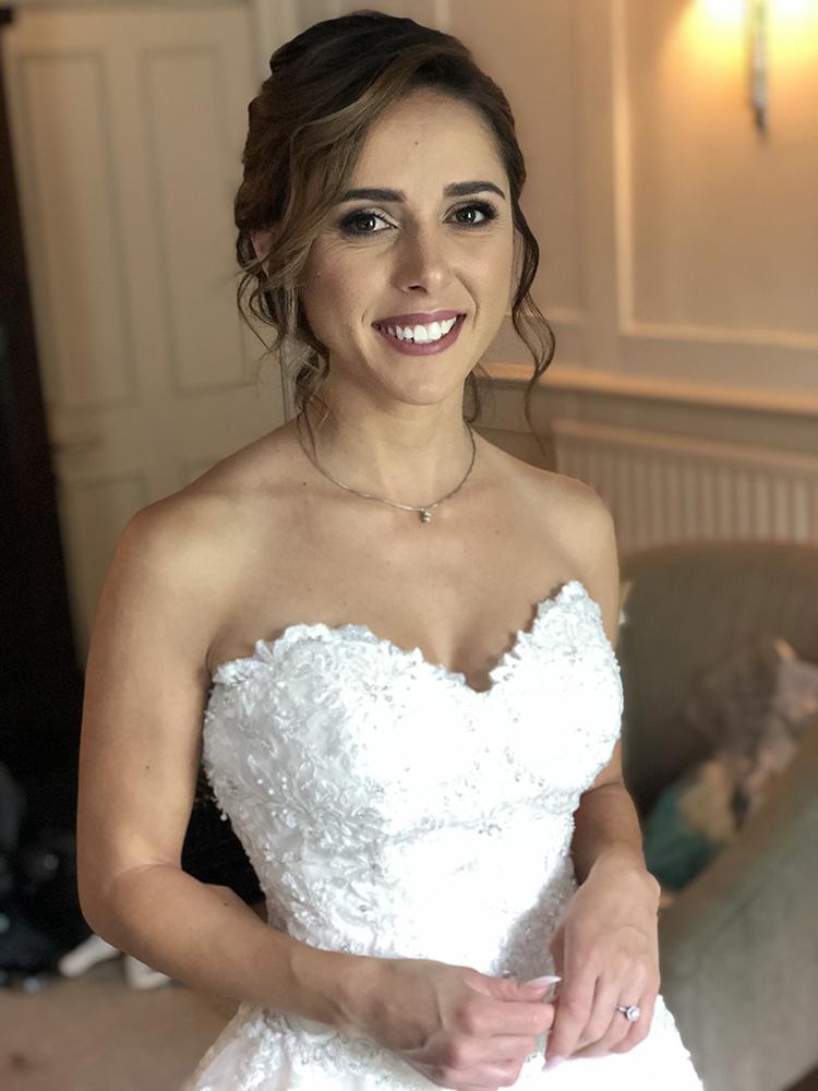 Bridal portrait hair and makeup by Jennifer