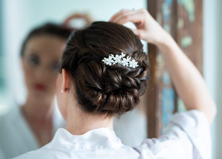 Bridal hair up by Kim