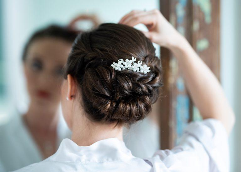 Bridal hair up by Kim