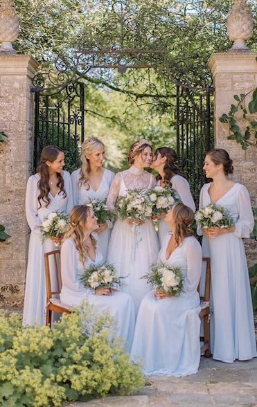 Bridal party, makeup and hair by Lucia