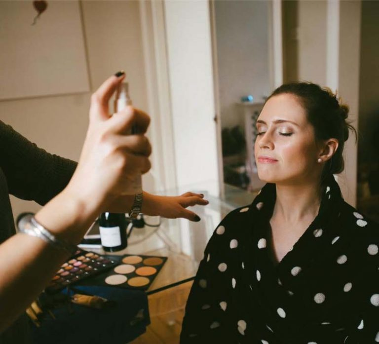 Charlotte setting bridesmaids makeup