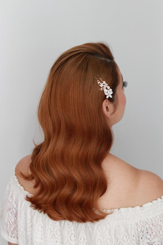 Hollywood waves on red head by Ema