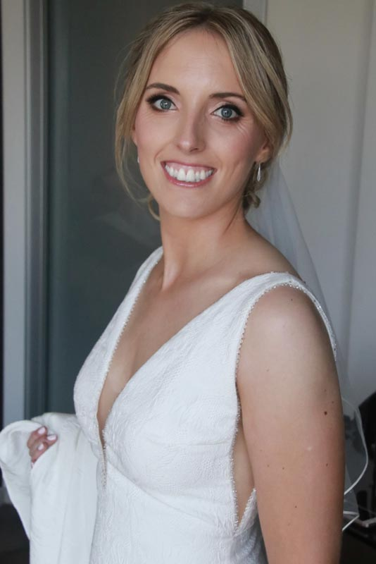 Bridal portrait, hair and makeup by Ema