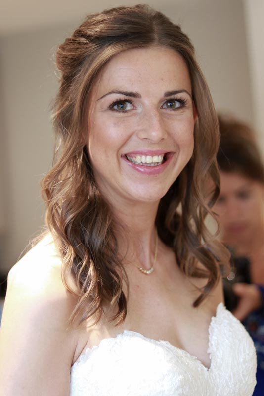 Natural hair and makeup bride by Ema