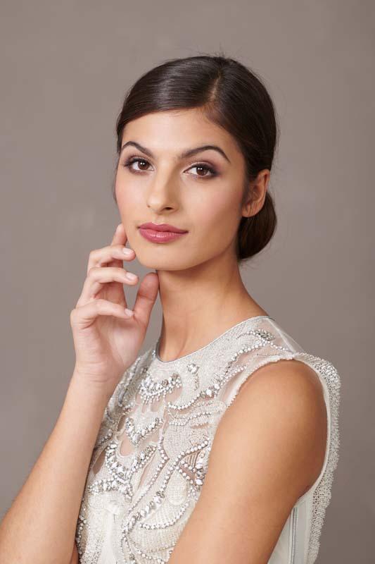 Bride portrait, makeup by Storme