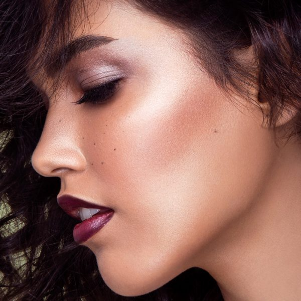 Beauty close up, makeup by Storme