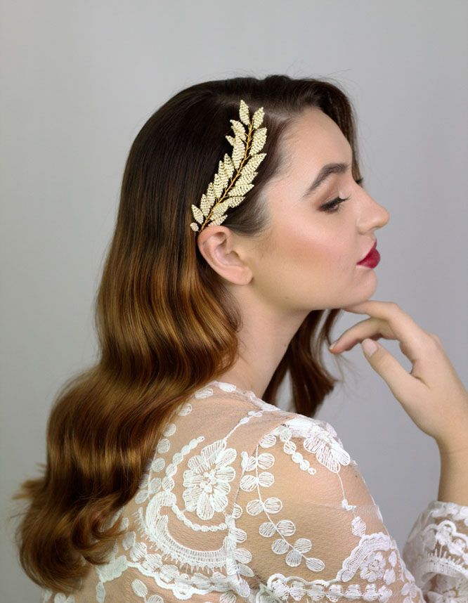 Bridal portrait, hair and makeup by Aga