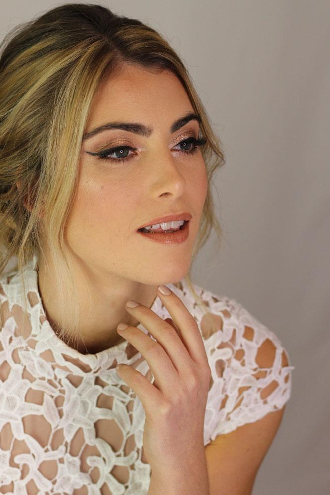 Bridal portrait, hair and makeup by Jennifer