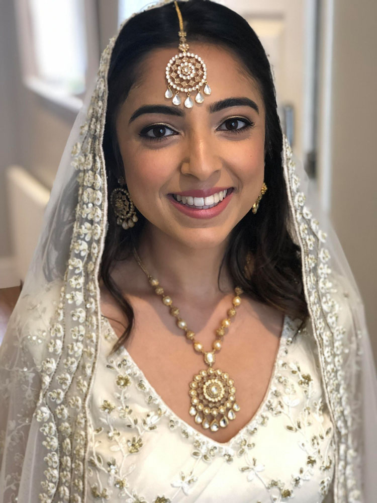 Indian bride, hair and makeup by Jennifer