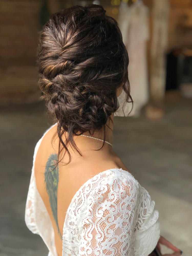 Bridal textured up do by Jennifer