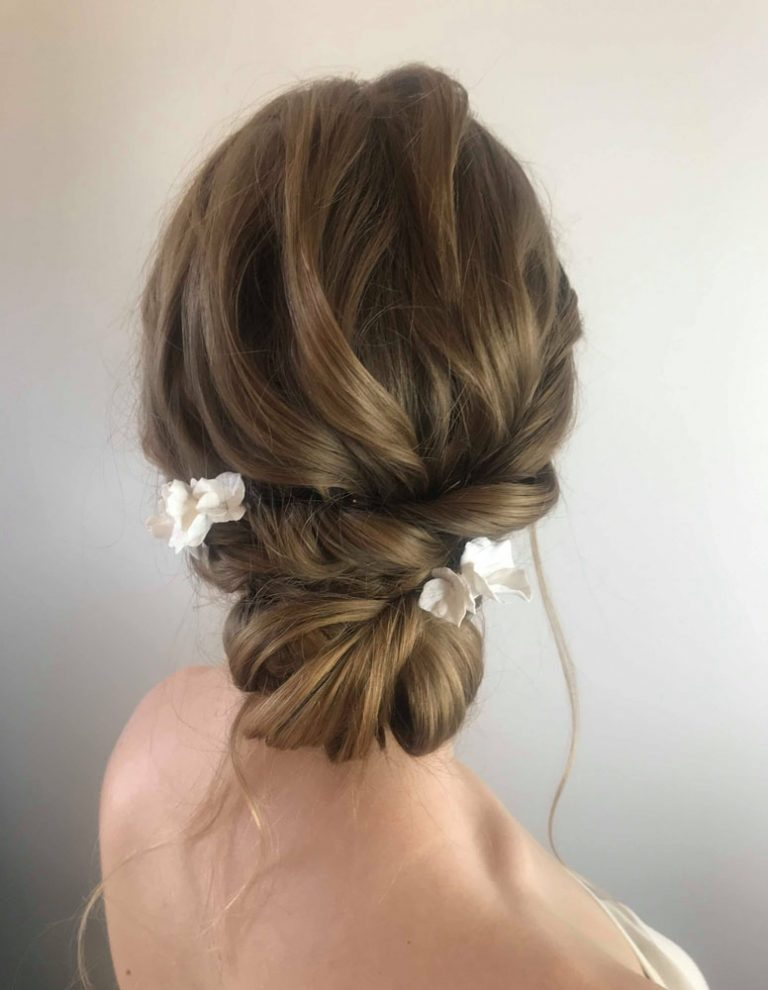 soft hair up style by Jo