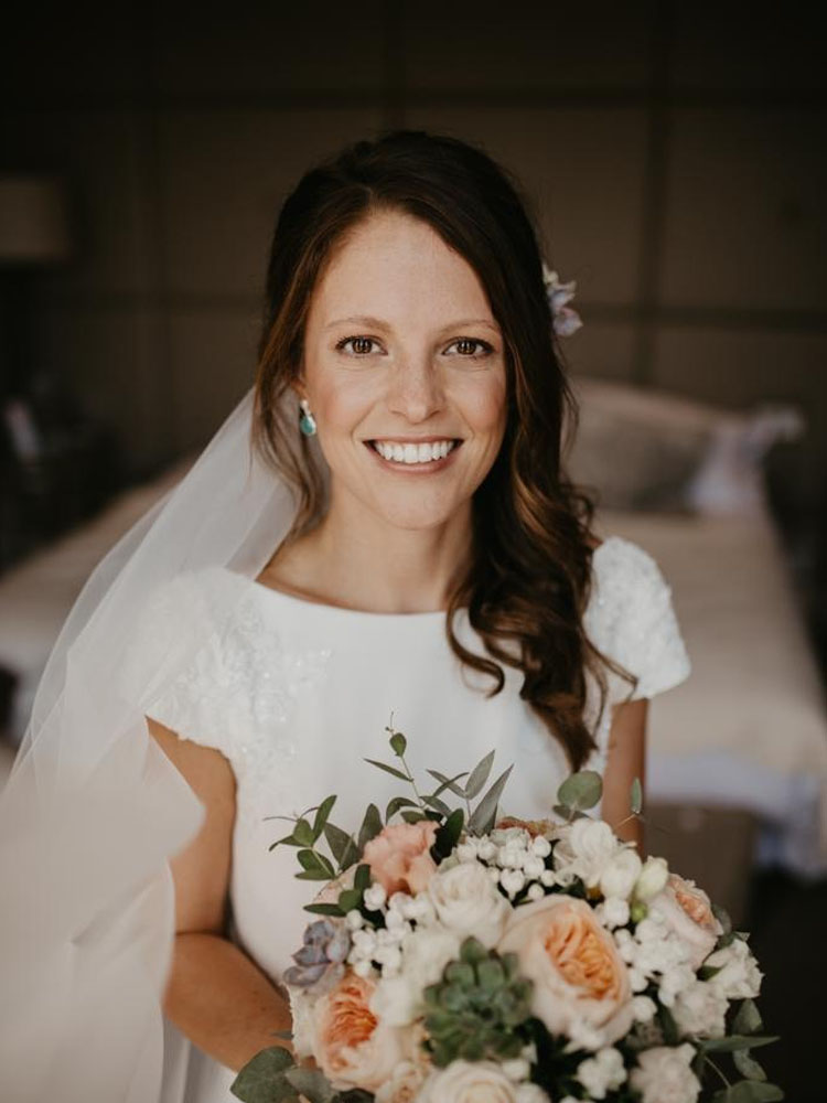 Natural bride, hair and makeup by Jo