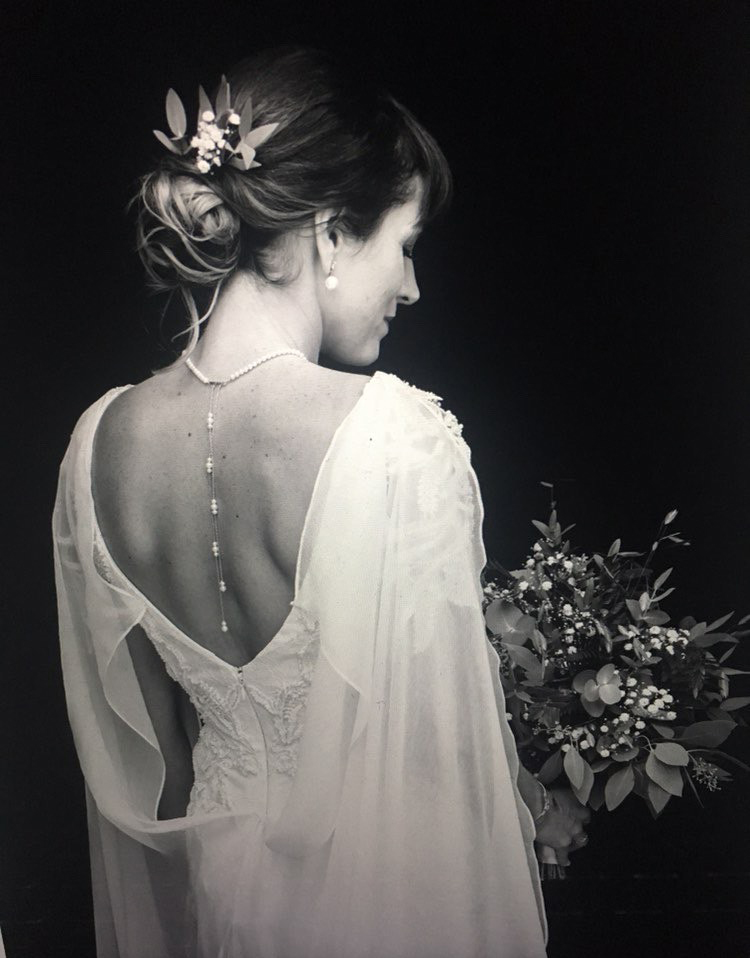 Bridal portrait, hair and makeup by Lucia