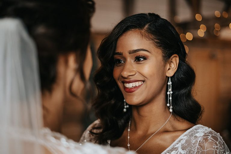 Bridesmaids smiling, hair and makeup by Jennifer