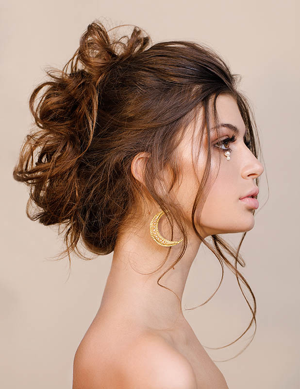 Beauty shot, hair and makeup by Storme