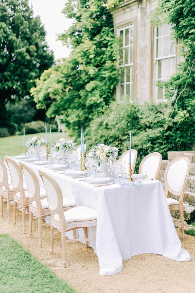 Pale Blue Wedding table