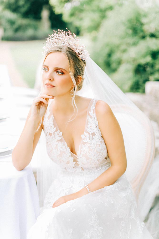 Storme Makeup and Hair Bride with statement hairpiece