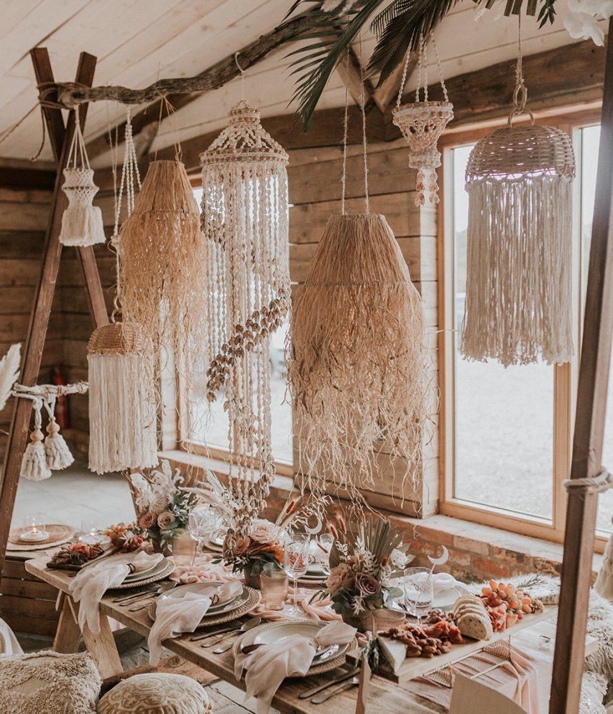 Barn Wedding - table setup
