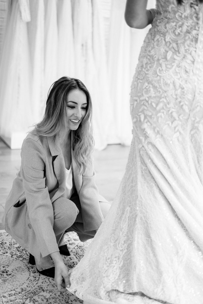 Duntons Photography - Claire Love and lace dress fitting