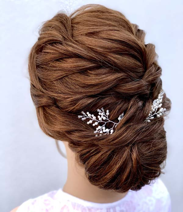 Red hair up do