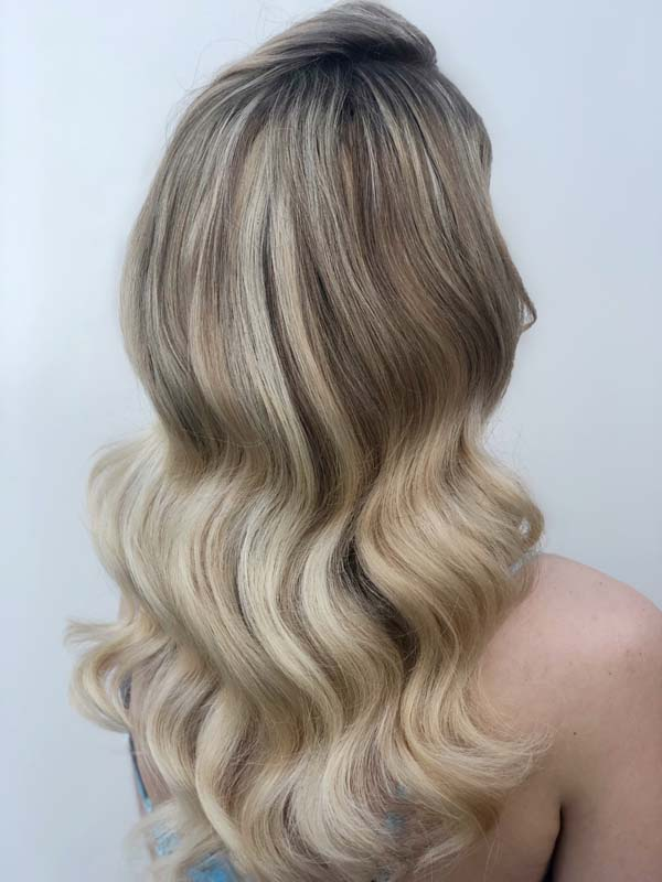 Blonde hollywood wave