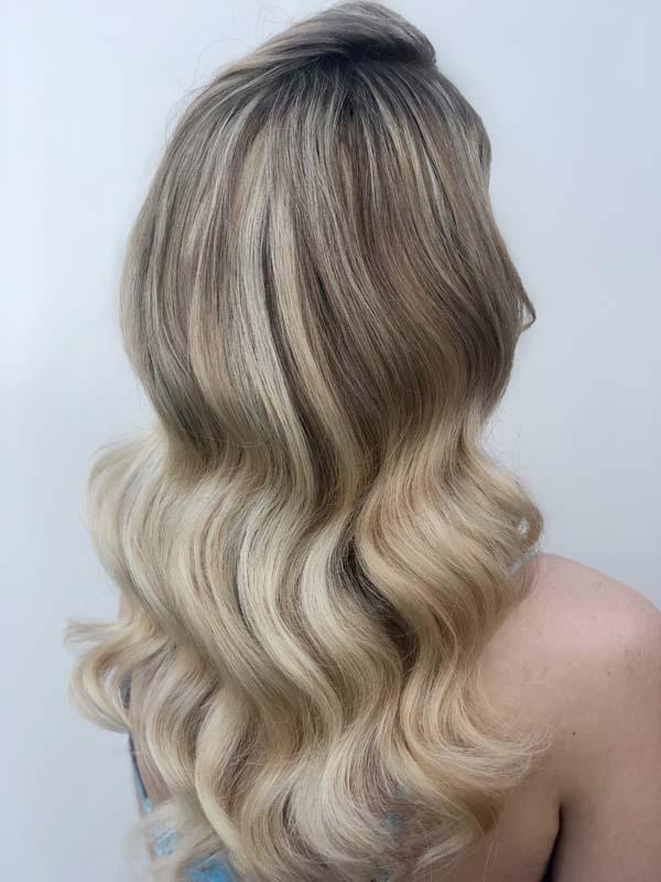 Blonde hollywood wave