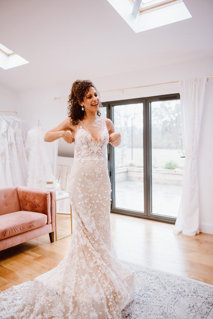 Jessica Bevan Photography Dress Fitting