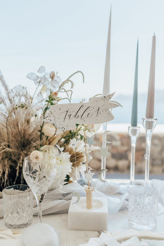 Santorini Under The Stars - table decor