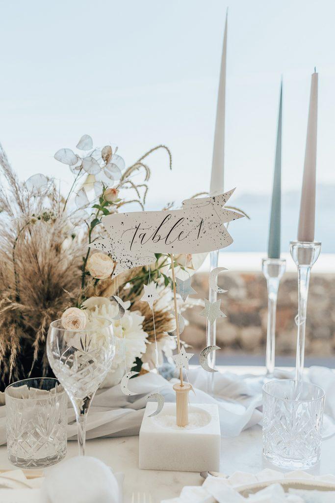 Santorini Under The Stars - table decor