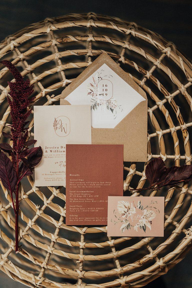 Autumn wedding ideas stationary