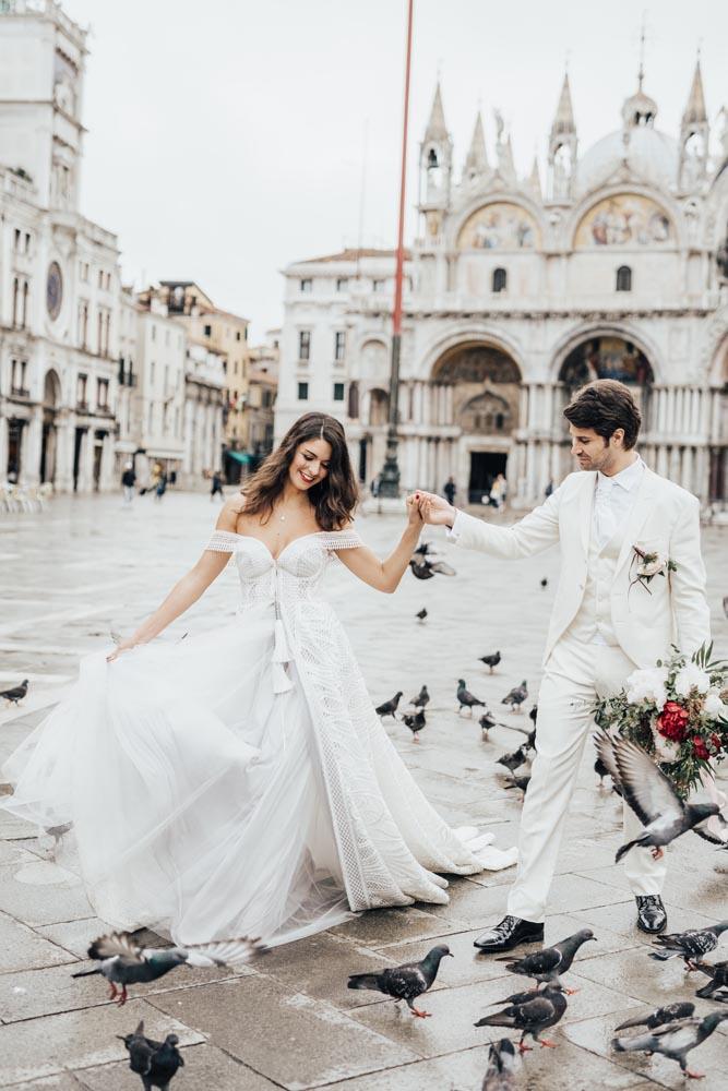venice boho wedding hair bride and groom