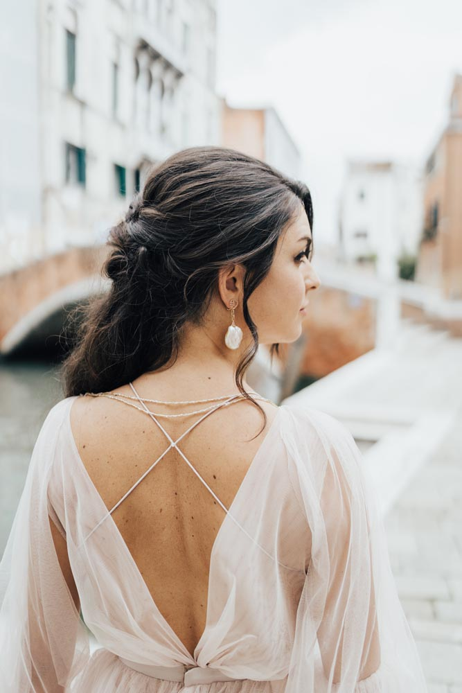 boho wedding hair bride in venice