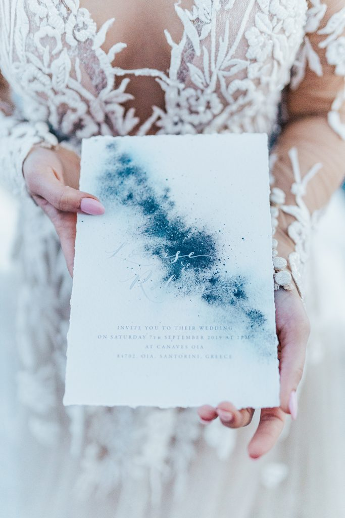 Santorini Under The Stars - wedding invite