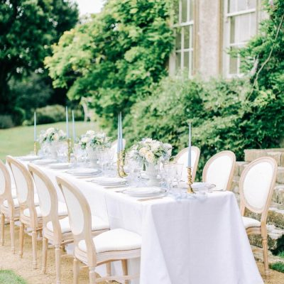 Pale Blue Wedding table