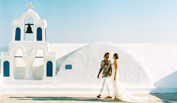 Santorini couple hair and makeup by storme makeup and hair