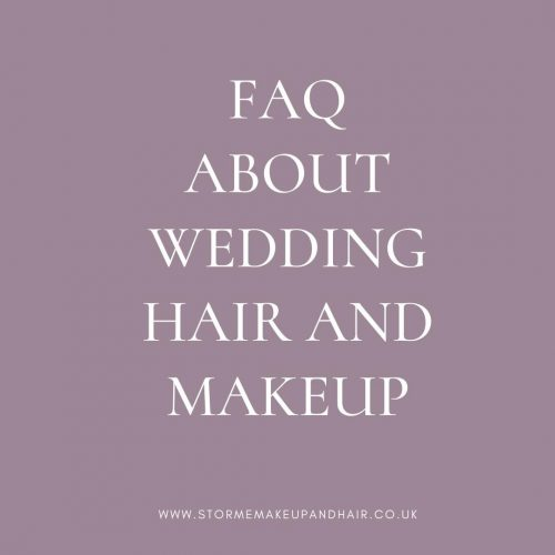 Frequently asked questions about wedding hair and makeup