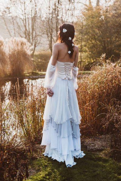sunset boho bridal look