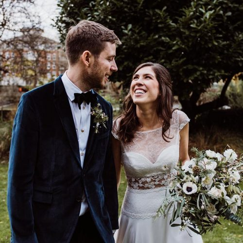 intimate wedding at The Bingham Hotel