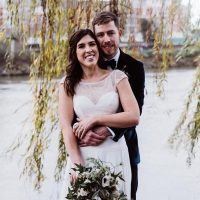 Lucy + Tomintimate wedding at The Bingham Riverside Hotel