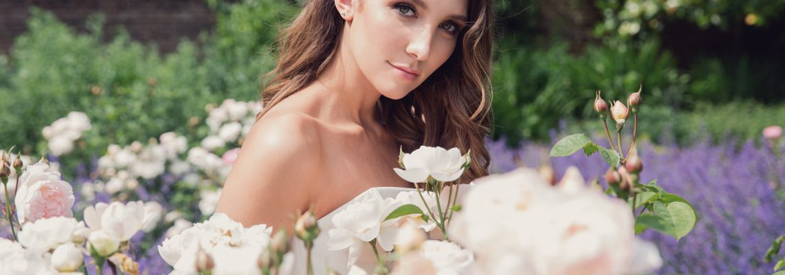 bride with roses hair and makeup s pro team