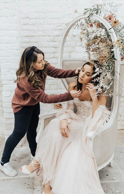 Together In Grace storme touching up bride